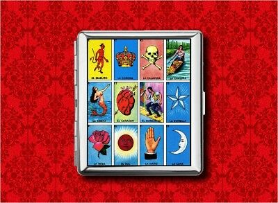 Loteria Tarot Card Psychic Game Metal Wallet Card Cigarette Id Ipod Case