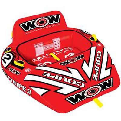 Wow Coupe Cockpit 2 Person Inflatable Towable Water Ski Tube Biscuit (15-1030 Sq