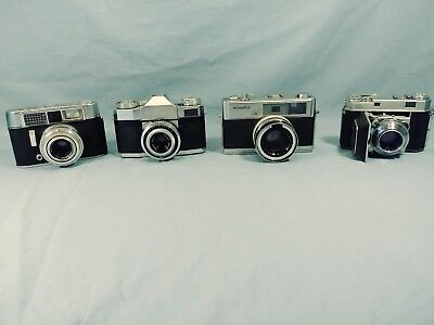 Vintage Lot 35mm Film Cameras RETINA CONTAFLEX VOIGTLANDER  MINOLTA (AS FOUND)