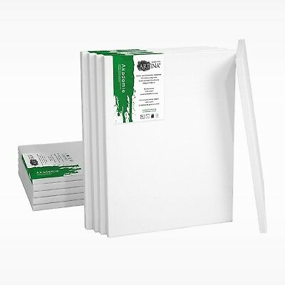 Artina 30 Set Academy Blank Canvases 30 X 40 CM Stretched Double Primed Flat...