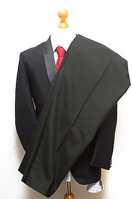 Vintage Alexandre London Dinner Men's Suit Uk 42R / 40W Worsted Mohair Tuxedo