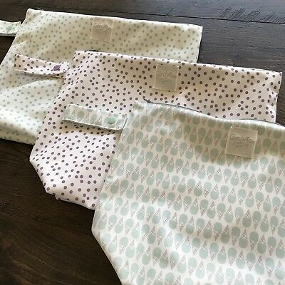 Lot Of 3 New Washed-only GroVia Wet Bags