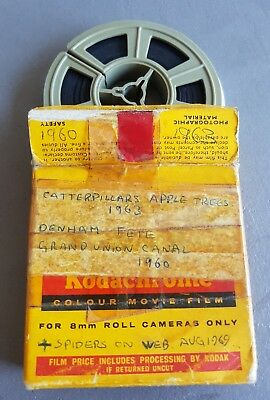 8mm projector home movie. Denham Fete Grand Union Canal 1960 + other 99pnr