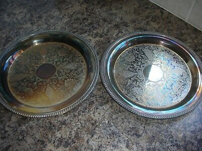 Two Silver Plated Serving Trays