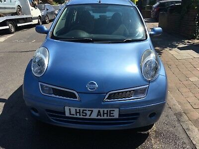 2007 (57 Plate) Nissan Micra 1.4 Automatic With 16K Miles 5 Doors In Blue & Mot
