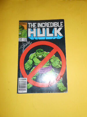 incredible hulk  comic book issue 317 autographed by Lee and Kirby