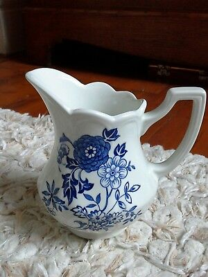 Royal Staffordshire J & G Meakin Blue and White Jug