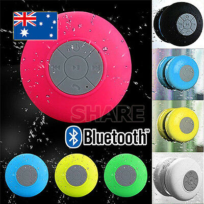 Wireless Bluetooth Waterproof Speaker Handsfree Mic Suction Shower Bathroom AU