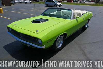 Plymouth 'Cuda  1970 Plymouth Cuda Convertible, 440 Shakerhood Equipped, in Limelight