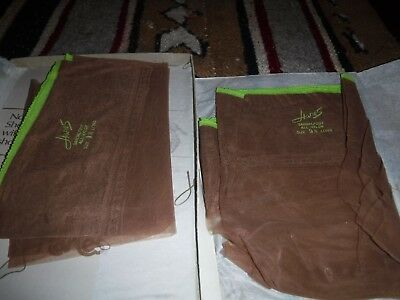 "2 Pair Vintage Hanes Stockings Color Barely There Sz 9.5 L Length ""34"""
