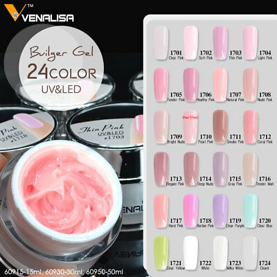 French Nail Tips Transparent Pink Hard Jelly Builder Nails Extend Gel Nail Art