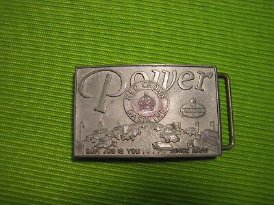 Vintage 1975 Amoco Red Crown Gasoline POWER Belt Buckle