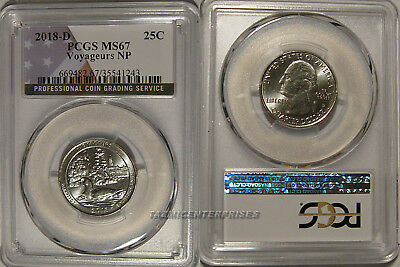 2018 D Voyageurs NP Quarter 25c PCGS MS67 USA Flag