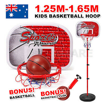 New Adjustable Portable Basketball Stand System Hoop Net Ring Slam Junior Kid