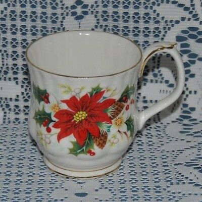 "Beautiful Vintage Royal Albert, ""Poinsettia"" Bone China, Coffee / Tea Mug #2"