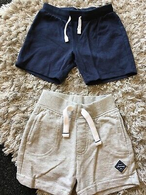2 x Baby Boys Shorts Age 9-12 Months Excellent Condition