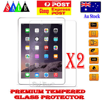 2X Tempered Glass LCD Screen Protector Guard for Apple iPad Air 1 2 3 10.5 2019