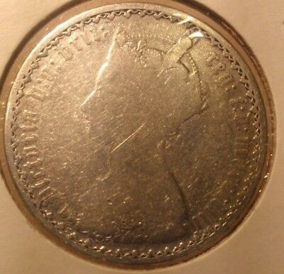 1853 Silver Gothic One Florin Great Britain