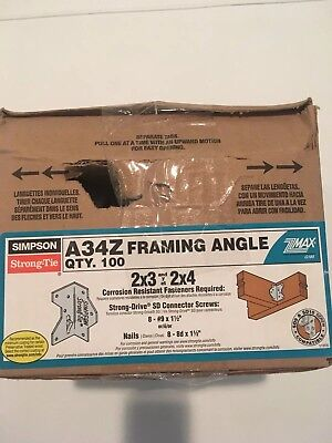 SIMPSON STRONG TIE Framing Angle 4 1/2-in Lot of 7 Zmax A35Z ...