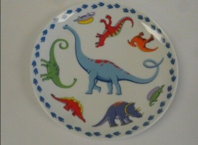 "Tiffany & Co. ""Tiffany Dinosaurs"" Child's Plate 8"" Great Condition"