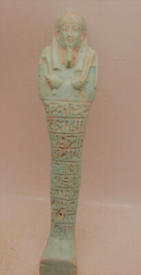 Circa 664-332Bc Ancient Egypt Ptolemaic Period Glazed Faience Ushabti Shabti