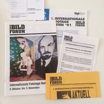 1. Internationale Fototage Herten 1991 - Programmheft