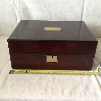 Handsome Large Victorian Collectors/ Writing Box