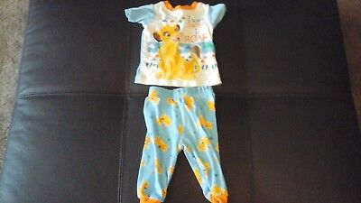 Boys lion kings pyjamas size 9 to 12 month **good condition**