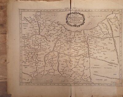 Tab v Asia Antique Map Mercator map of Syria and middle east 18th century