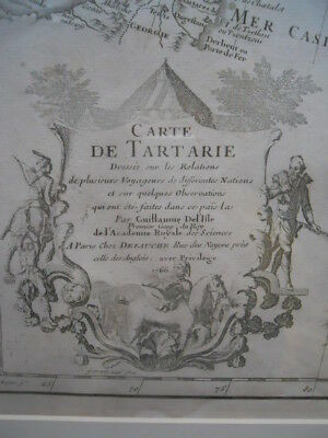 "A Map of China "" Carte deTartarie "", Guillaume De L'Isle, Delisle 1766 ~~"
