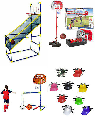 3 in 1 Basketball Football Darts Goal Hoop Set Kids Toy Ball Net Sports Soccer