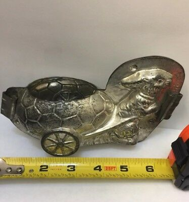 Bunny Rabbit w/ cart Chocolate Mold ~ Anton Reiche, Dresden Germany #25449