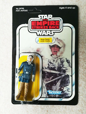 Star Wars TESB Vintage Action Figure Han Solo Hoth Outfit 41-back Kenner MOC