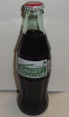 COCA COLA CLASSIC BOTTLE Flagstaff Centennial 1894 1994 Glass Vintage 8oz Coke