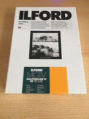 Ilford photographic paper MGIV Multigrade IV RC deluxe 5x7 (100) - new & sealed