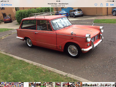 Triumph Herald Estate 1962 Very Original Low Miles Classic Car Very Solid