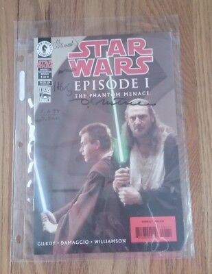 STAR WARS  EPISODE 1 SIGNED COMPLETE SERIES OF THE PHANTOM MENACE - #1 to #4