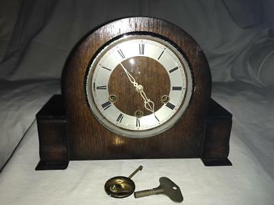 Vintage Smiths Enfield Brithish Made Westminster Striking Mantel Clock,working.