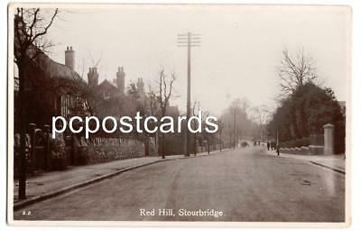 Stourbridge Worcester - Red Hill - Real Photo Postcard