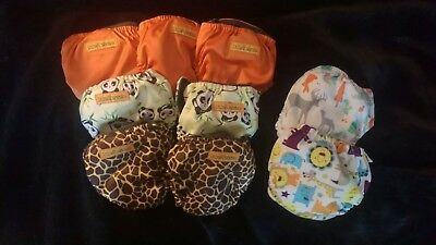 Lot of 9 Newborn Cloth Diapers Bale & Jesse Thristies GREAT CONDITION w/ inserts