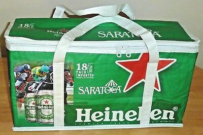 Saratoga Heineken Beer Zippered Vinyl Soft Thermal Insulated Cooler Carrier- New