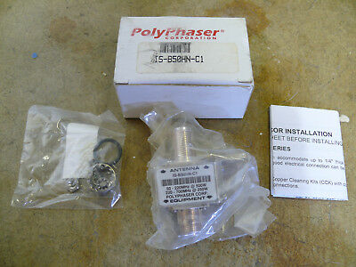 PolyPhaser IS-B50HN-C1 50-700MHz 260-500W Bulkhead RF Surge Lightning Arrestor