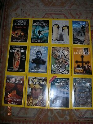 National Geographic Magazines 1996 January - December 12 Copies