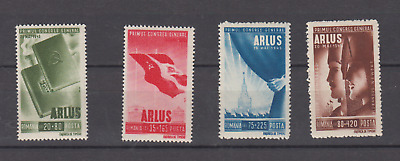 Romania 1945 Arlus Soviet Congress Fund Complete Set Mint Never Hinged