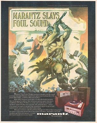 1978 Print Ad Marantz Stereo Systems Turntables Speakers Slays Foul Sound