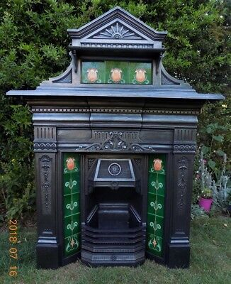 cast iron fireplace, victorian, edwardian, antique, dated c.1899!!!