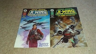 Star Wars - X-Wing Rogue Squadron - The Rebel Opposition #1&2 Dark Horse Comics