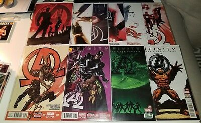 NEW AVENGERS #1 2 3 4 5 6 7 8 11 12 1st Black Order Thanos Infinity War WOW!!!