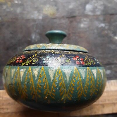 Oriental Wooden Bowl With Lid