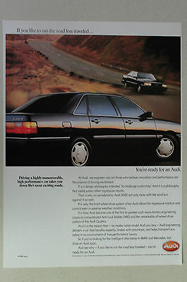 AUDI QUATTRO and 5000 Full Page AD magazine clipping 1986